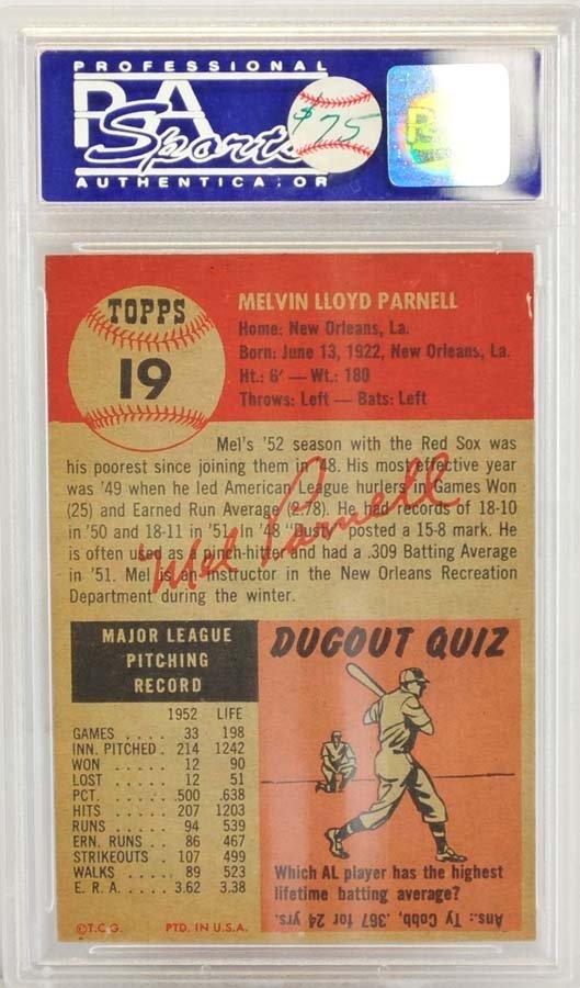 1953 Topps Mel Parnell PSA 8 - 2