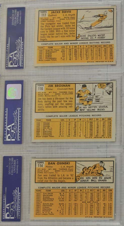 10 1963 Topps Baseball Cards PSA Graded 8 - 2