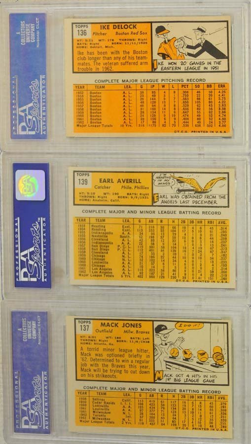 10 1963 Topps Baseball Cards PSA Graded 8 - 6