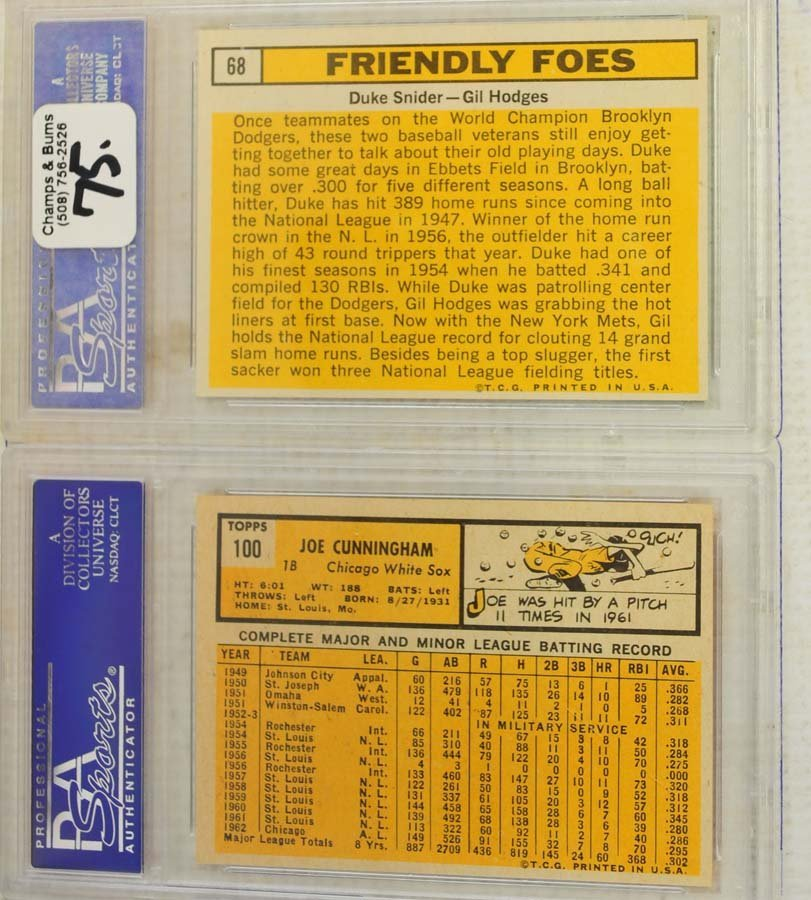 5 1963 Topps Baseball Cards PSA Graded 8 - 4