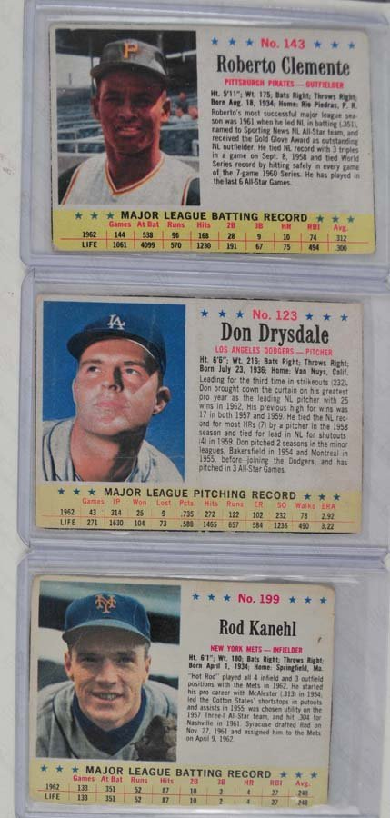 9 1963 Post and Jello Baseball Cards - 3