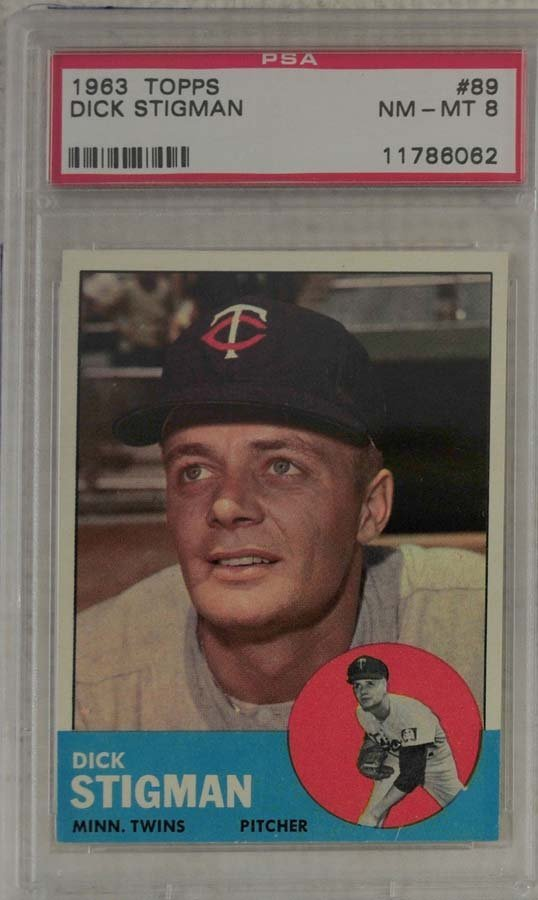 7 1963 Topps Baseball Cards PSA Graded 8 - 5