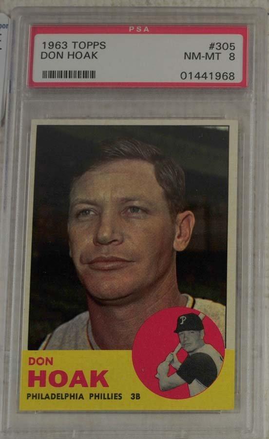 10  1963 Topps Baseball Cards PSA Graded 8 - 7
