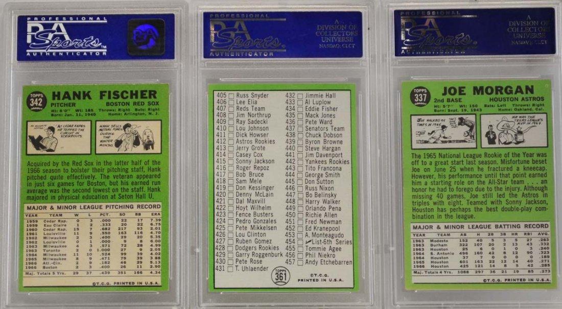 5 1967 Topps Graded Cards PSA 8 - 2