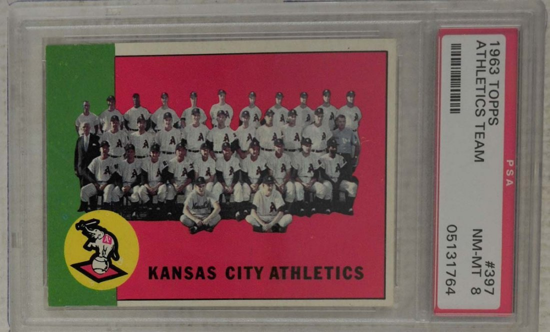 10  1963 Topps Baseball Cards PSA Graded 8 - 7