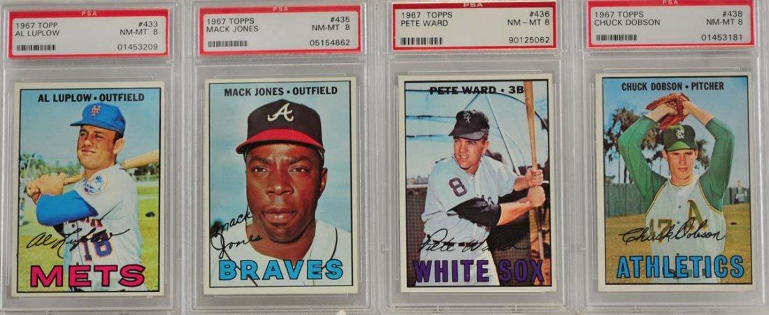 10 1967 Topps Graded Cards PSA 8