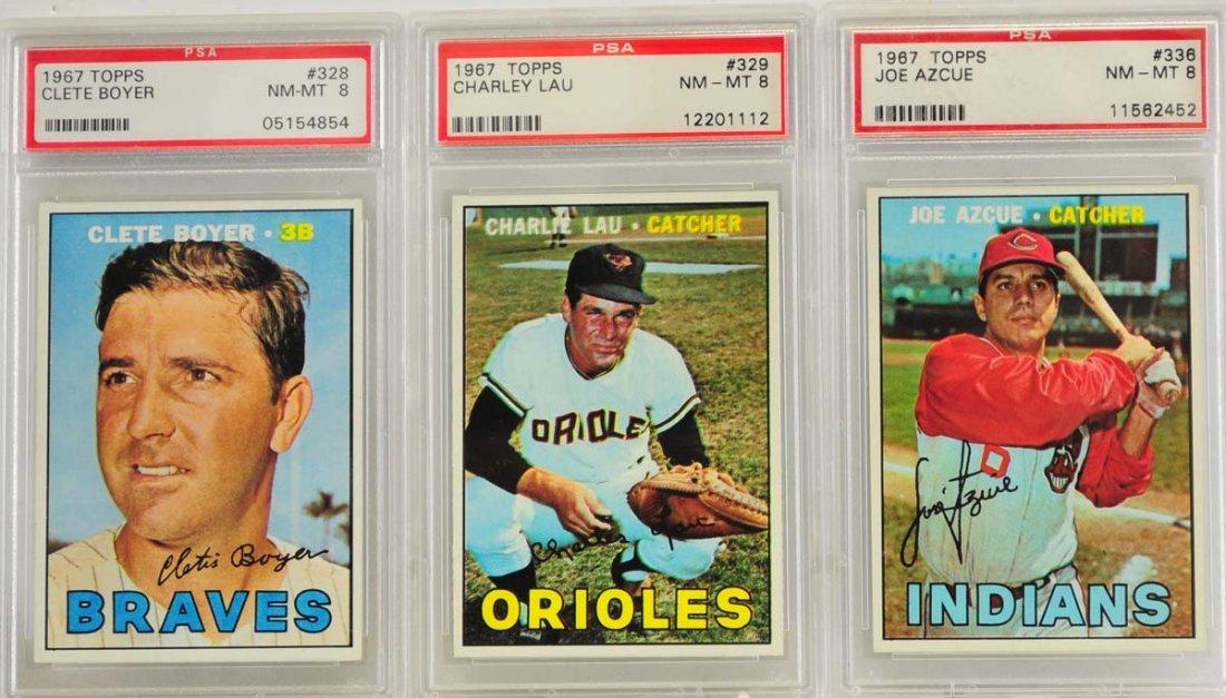 10 1967 Topps Graded Cards PSA 8 - 5