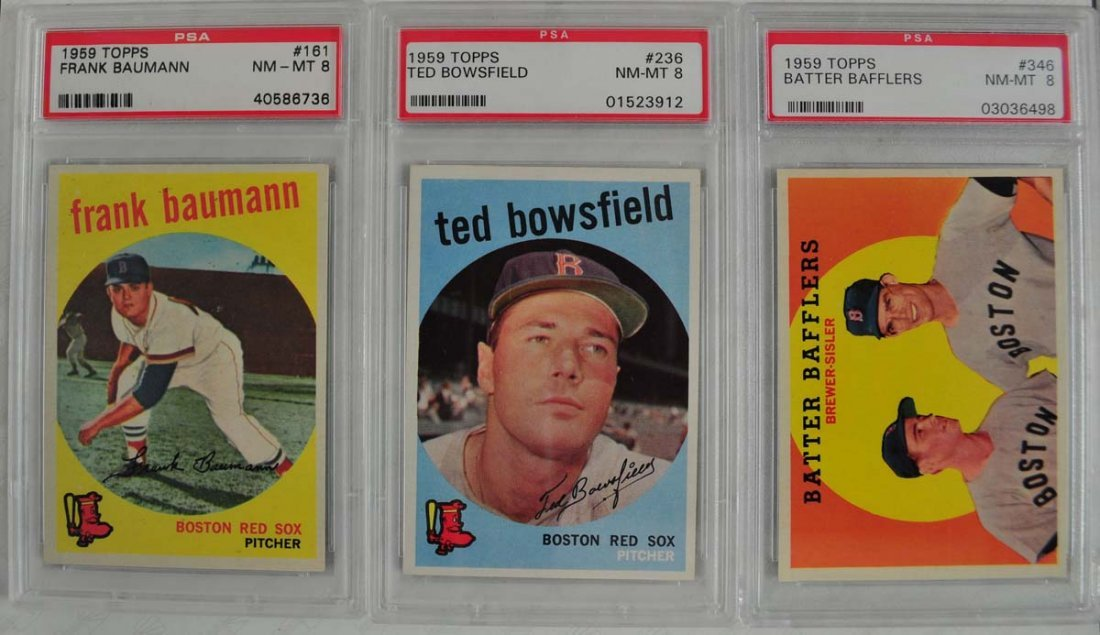 13 1959 Topps Baseball Cards PSA Graded 8