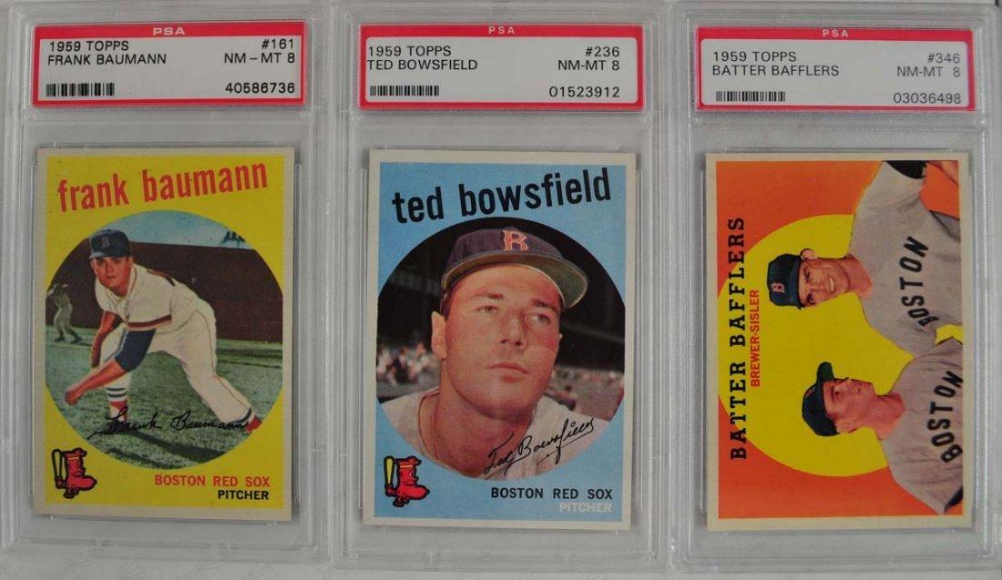 13 1959 Topps Baseball Cards PSA Graded 8 - 2