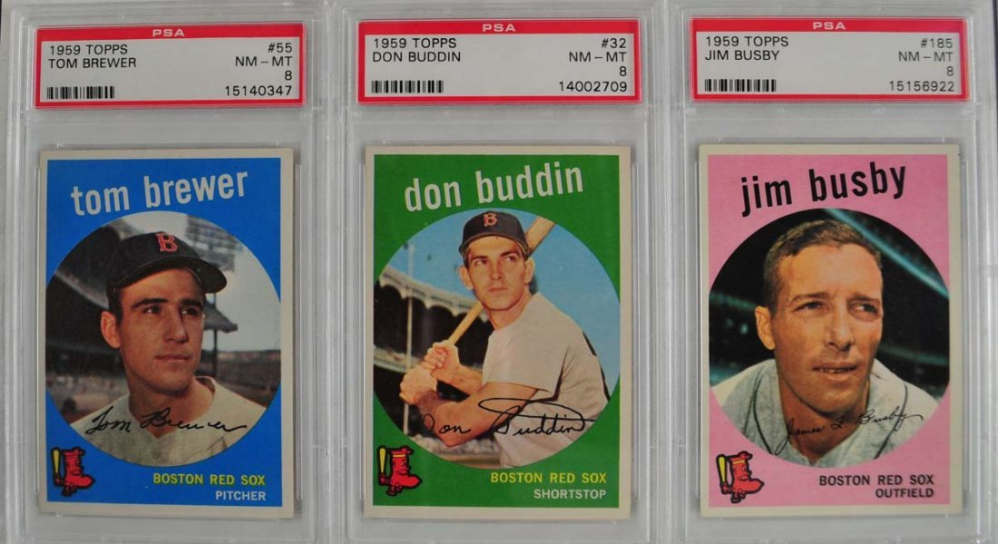 13 1959 Topps Baseball Cards PSA Graded 8 - 4