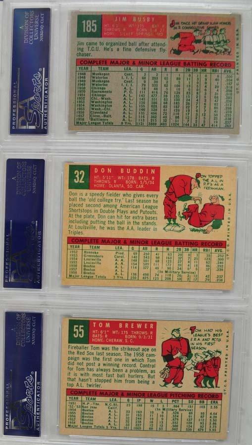 13 1959 Topps Baseball Cards PSA Graded 8 - 5