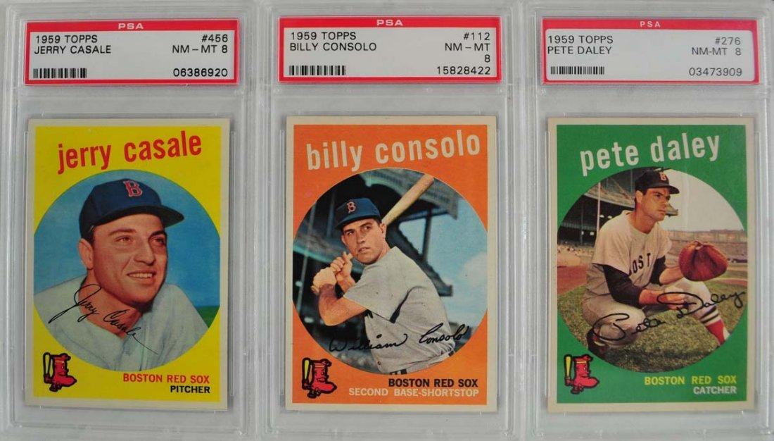 13 1959 Topps Baseball Cards PSA Graded 8 - 6