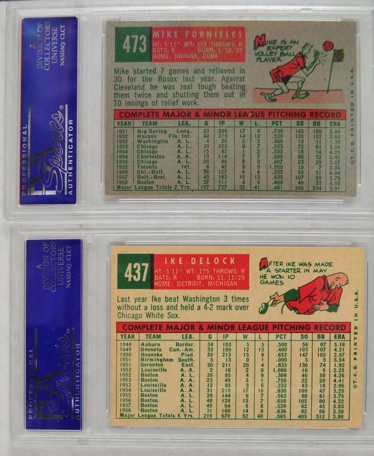 13 1959 Topps Baseball Cards PSA Graded 8 - 9