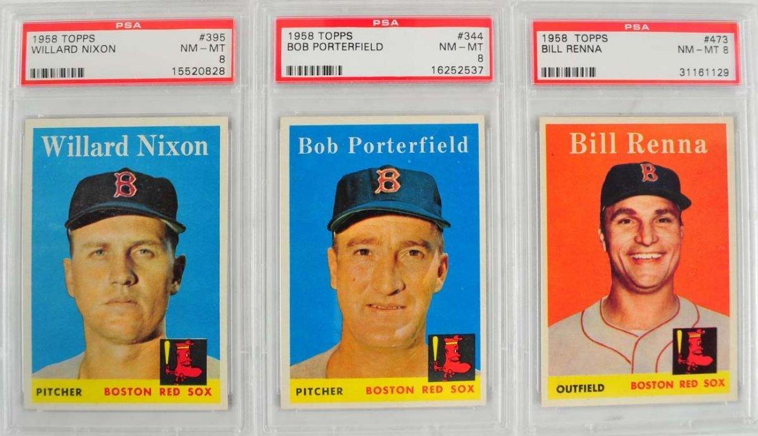 10 1959 Topps Baseball PSA Graded 8