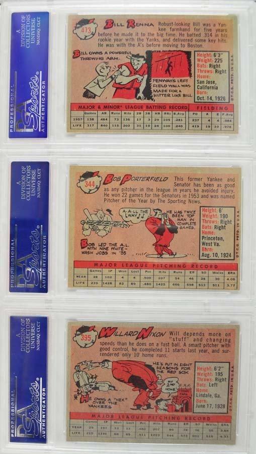 10 1959 Topps Baseball PSA Graded 8 - 2