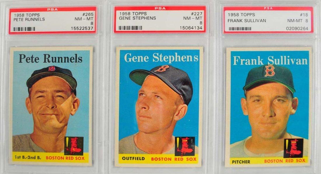 10 1959 Topps Baseball PSA Graded 8 - 3