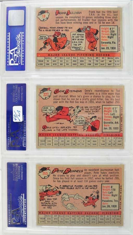 10 1959 Topps Baseball PSA Graded 8 - 4