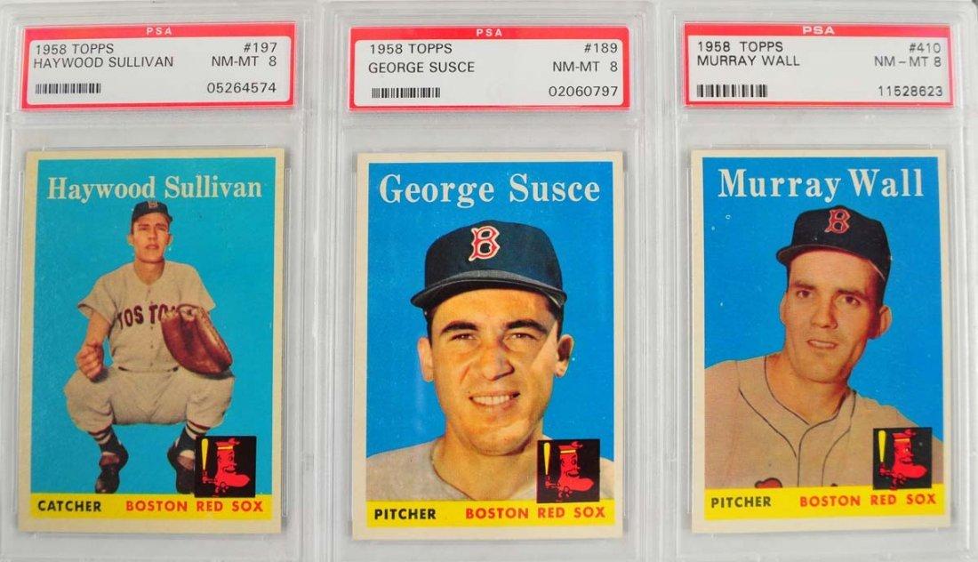 10 1959 Topps Baseball PSA Graded 8 - 5