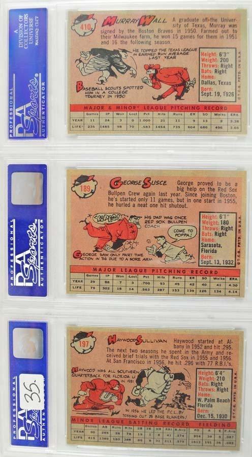 10 1959 Topps Baseball PSA Graded 8 - 6
