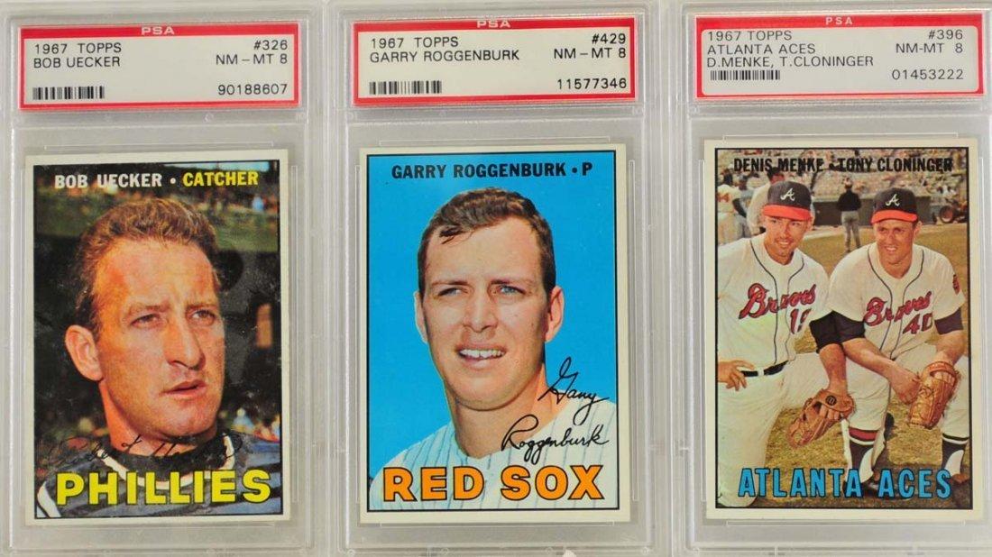 5 1967 Topps Graded Cards PSA 8