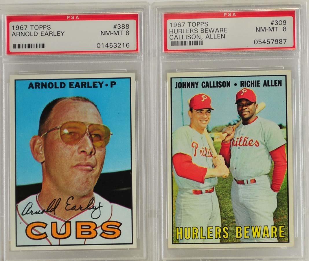 5 1967 Topps Graded Cards PSA 8 - 3