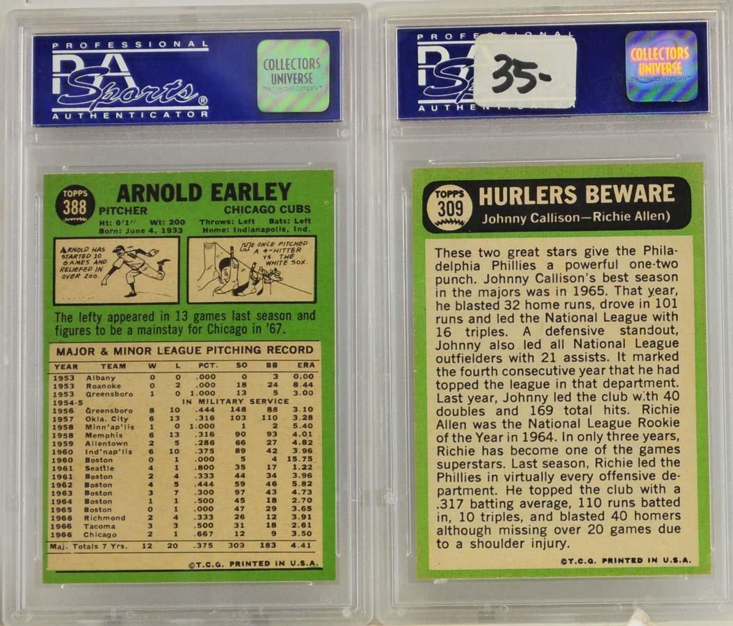 5 1967 Topps Graded Cards PSA 8 - 4
