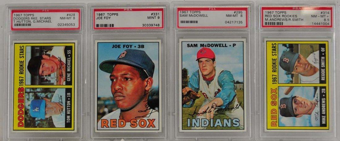 7 1967 Topps Graded Cards PSA 8