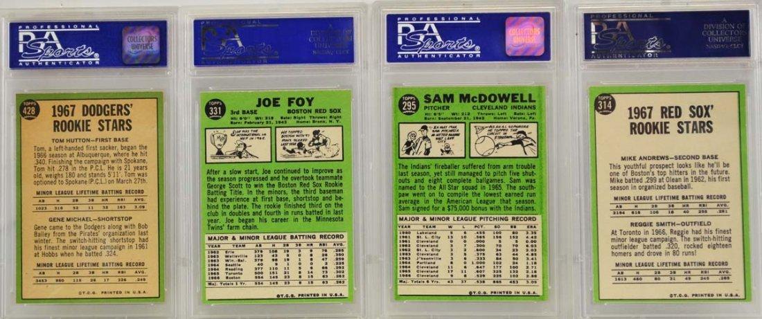 7 1967 Topps Graded Cards PSA 8 - 2