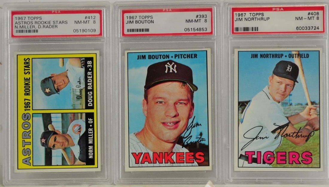 7 1967 Topps Graded Cards PSA 8 - 3