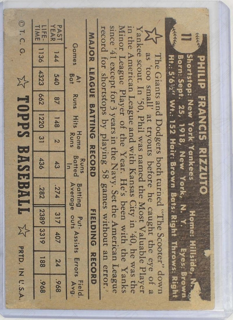 1952 Topps Phil Rizzuto - 2