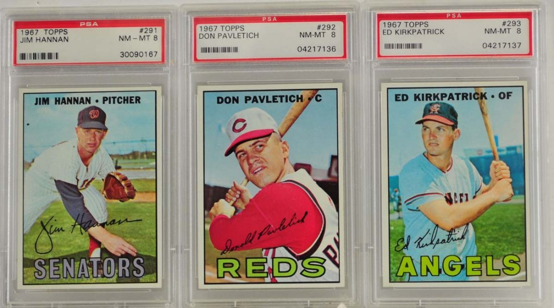 10 1967 Topps Graded Cards PSA 8 - 3
