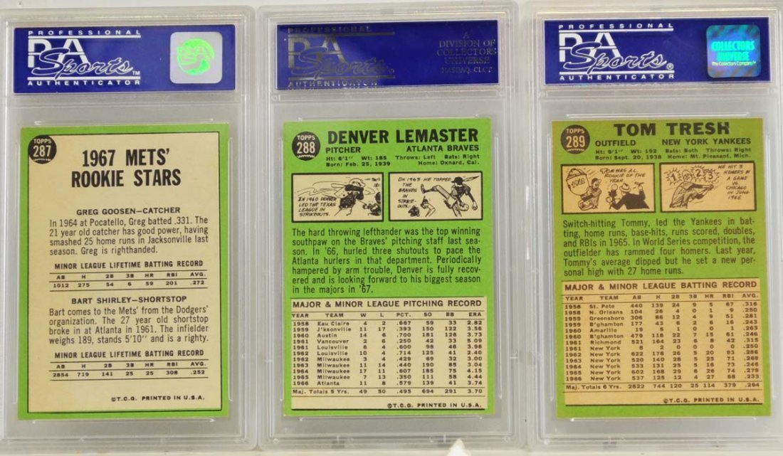 10 1967 Topps Graded Cards PSA 8 - 6