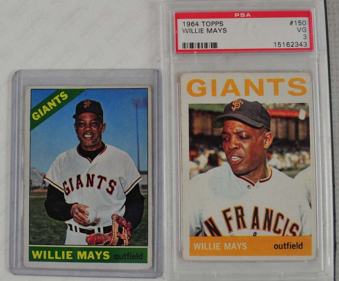Two 1960's Willie Mays Cards (64 and 66)