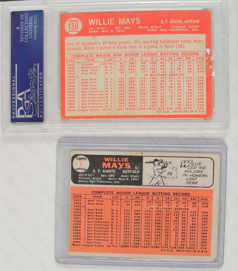 Two 1960's Willie Mays Cards (64 and 66) - 2
