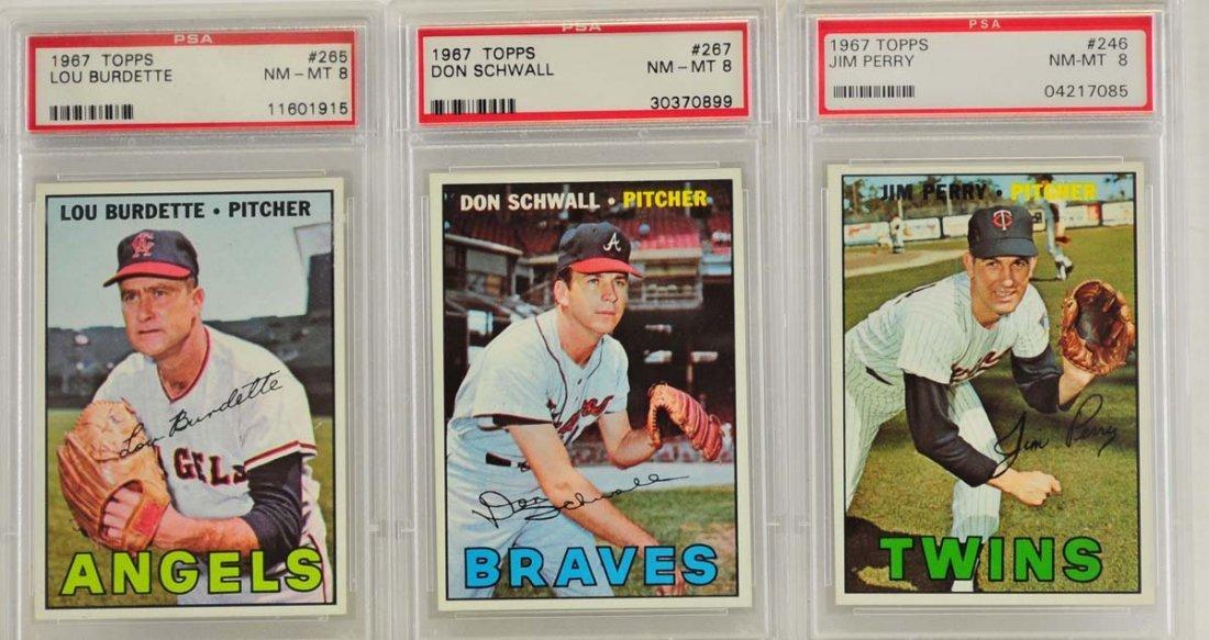 10 1967 Topps Graded Cards PSA 8 - 3