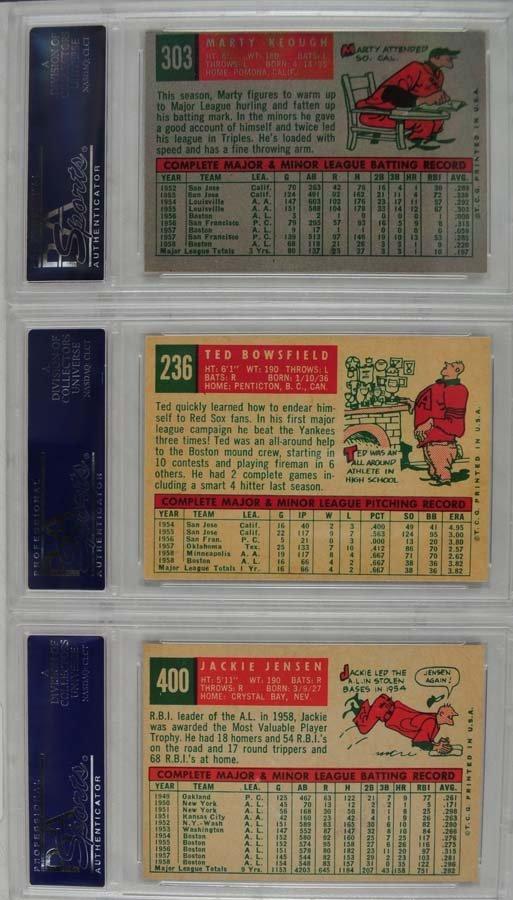 10 1959 Topps Baseball Cards PSA 8 - 2