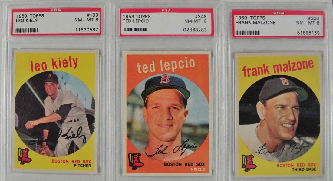 10 1959 Topps Baseball Cards PSA 8 - 3