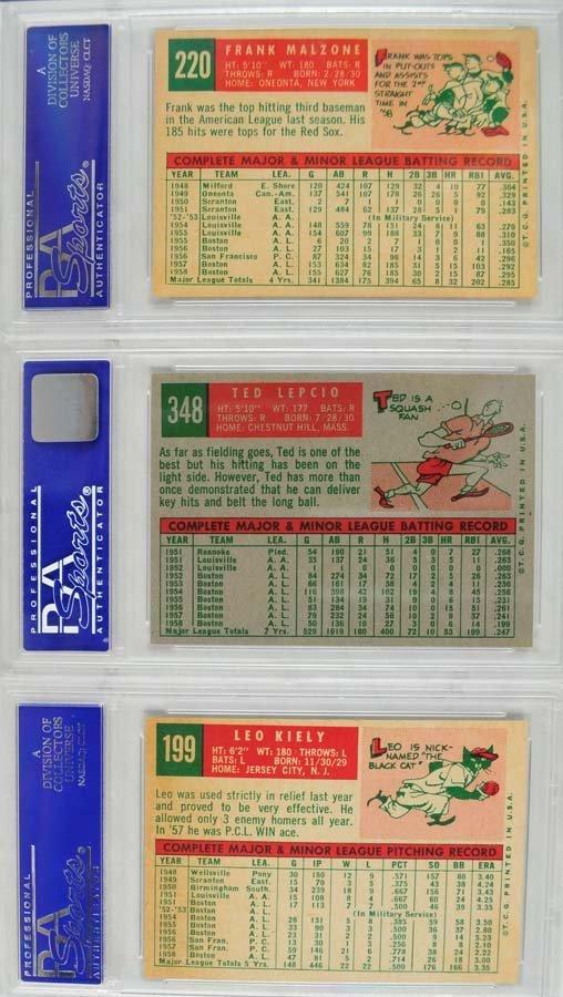 10 1959 Topps Baseball Cards PSA 8 - 4