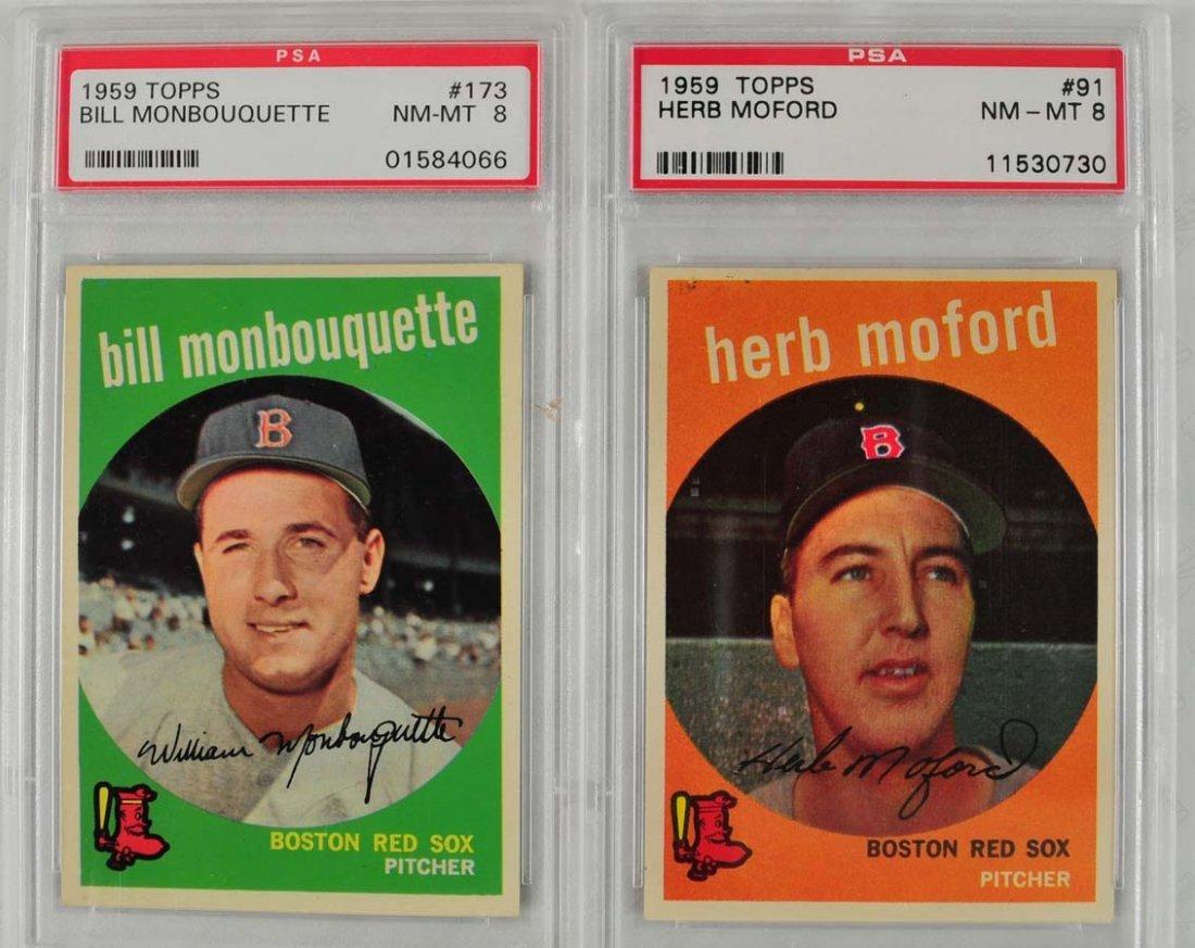 10 1959 Topps Baseball Cards PSA 8 - 5