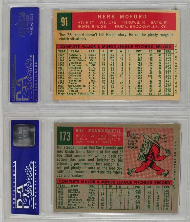 10 1959 Topps Baseball Cards PSA 8 - 6