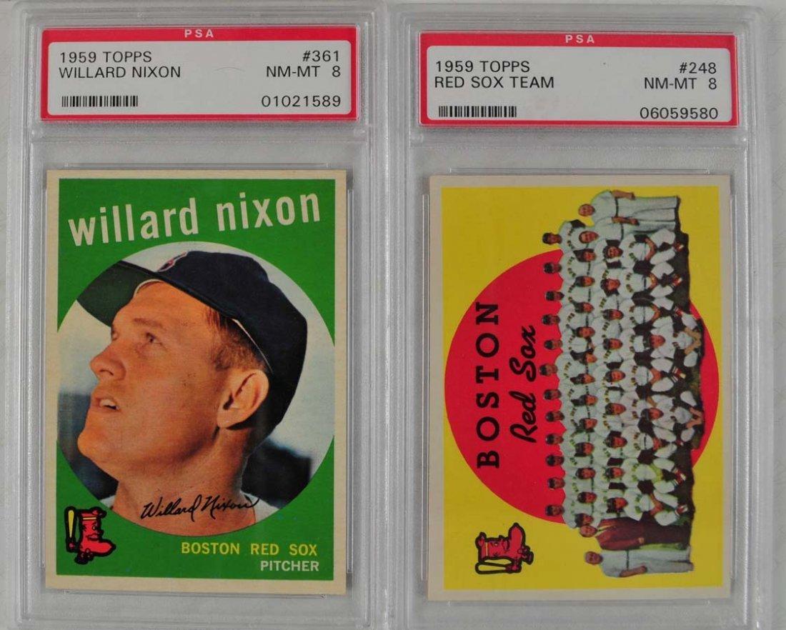 10 1959 Topps Baseball Cards PSA 8 - 7