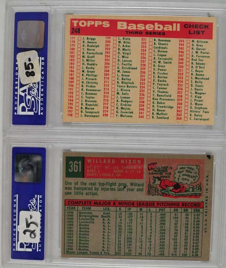 10 1959 Topps Baseball Cards PSA 8 - 8