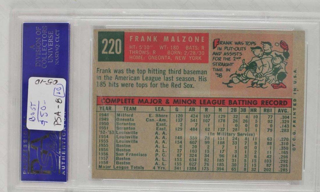 13 1959 Topps Baseball Cards PSA 8 - 10