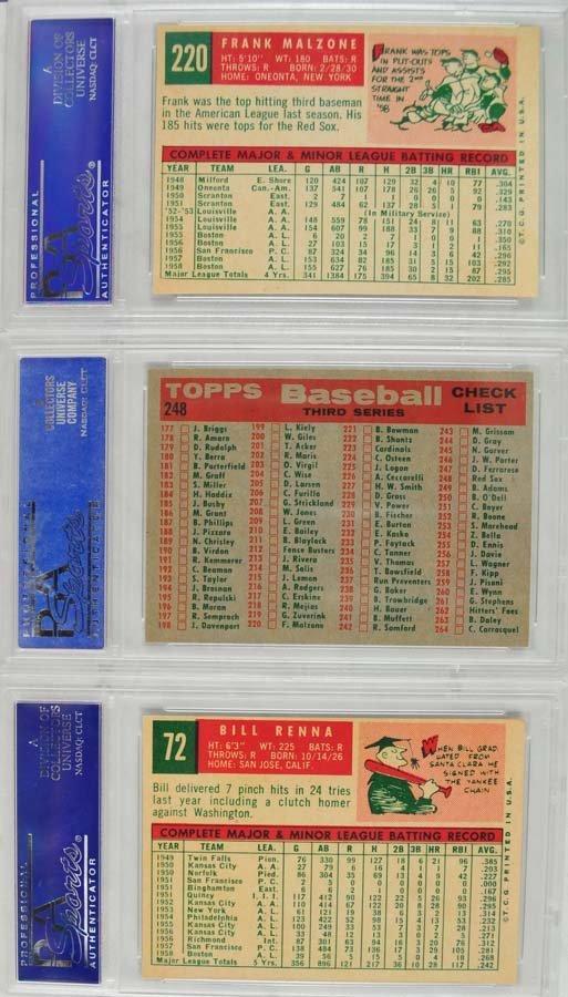 13 1959 Topps Baseball Cards PSA 8 - 2