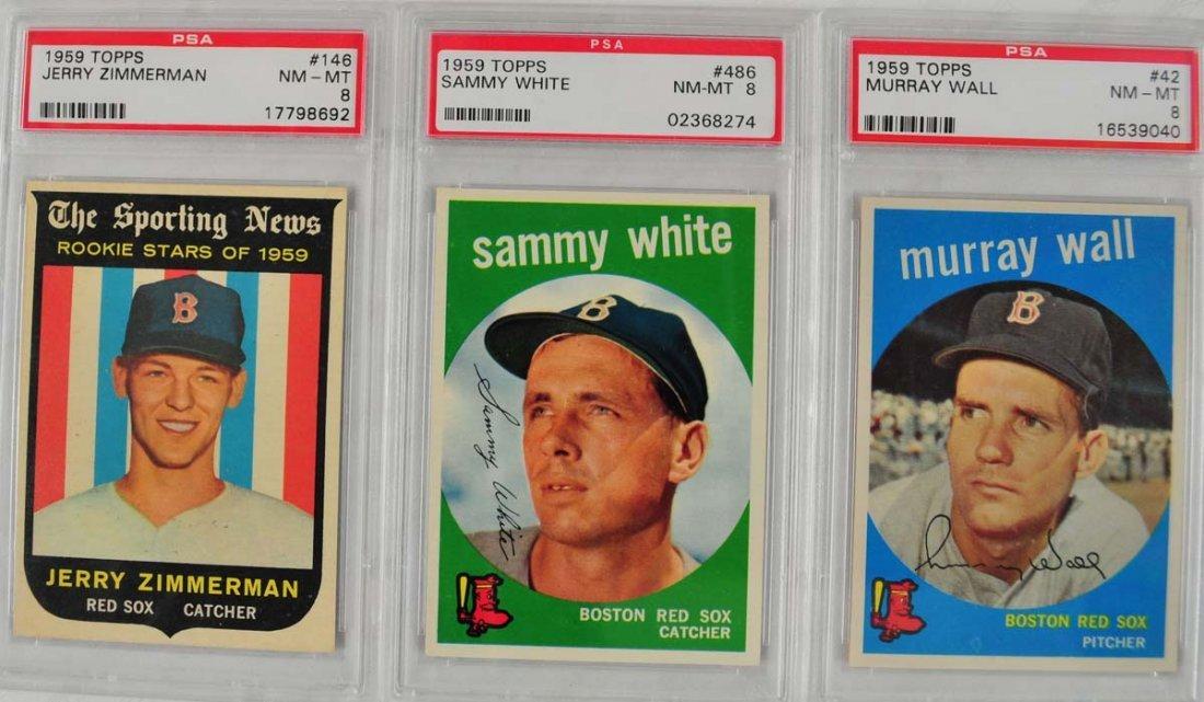 13 1959 Topps Baseball Cards PSA 8 - 3