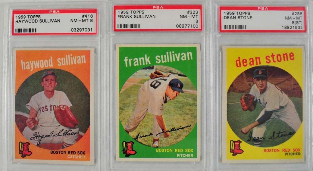 13 1959 Topps Baseball Cards PSA 8 - 5