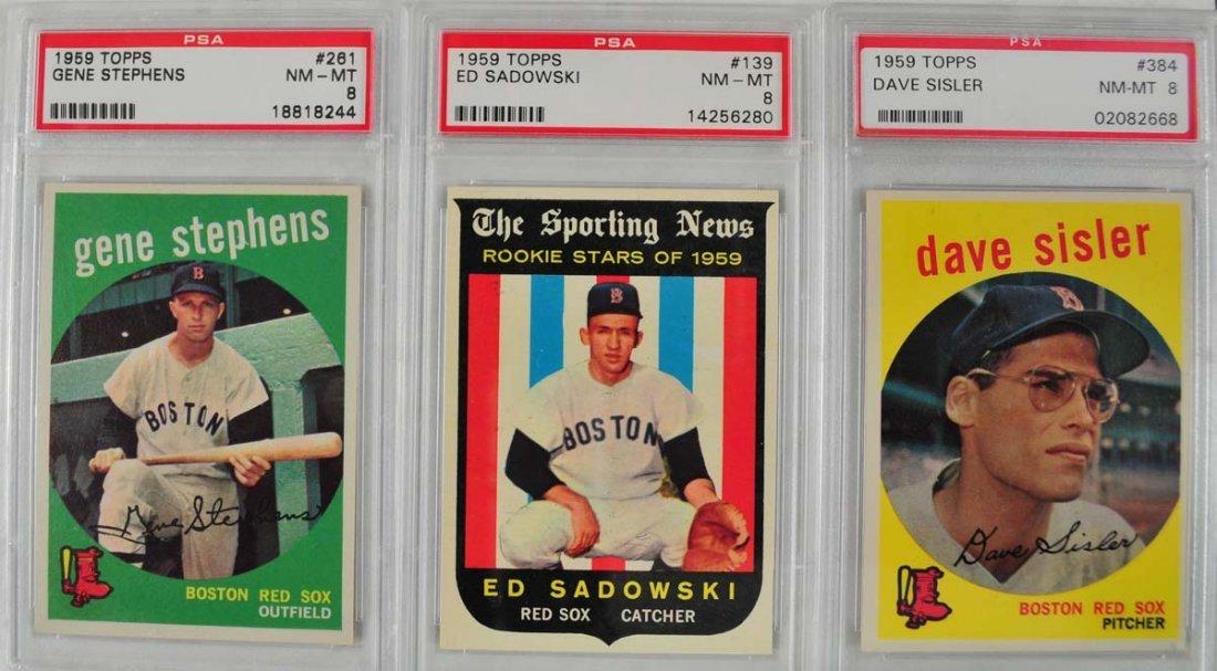 13 1959 Topps Baseball Cards PSA 8 - 7