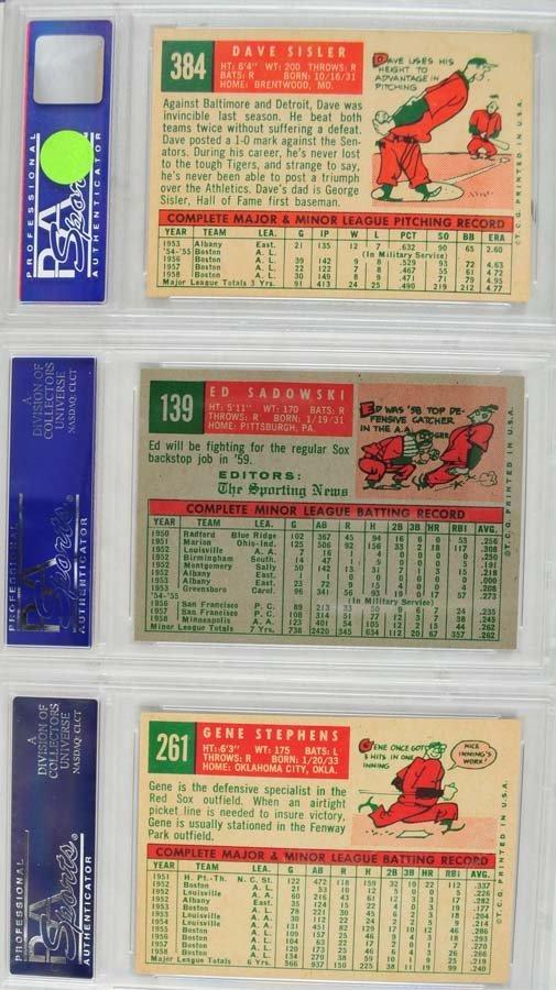 13 1959 Topps Baseball Cards PSA 8 - 8
