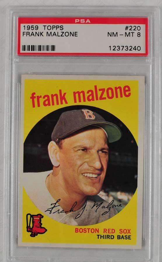 13 1959 Topps Baseball Cards PSA 8 - 9