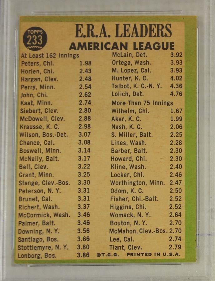 13 1967 Topps PSA Graded 8 Cards - 10